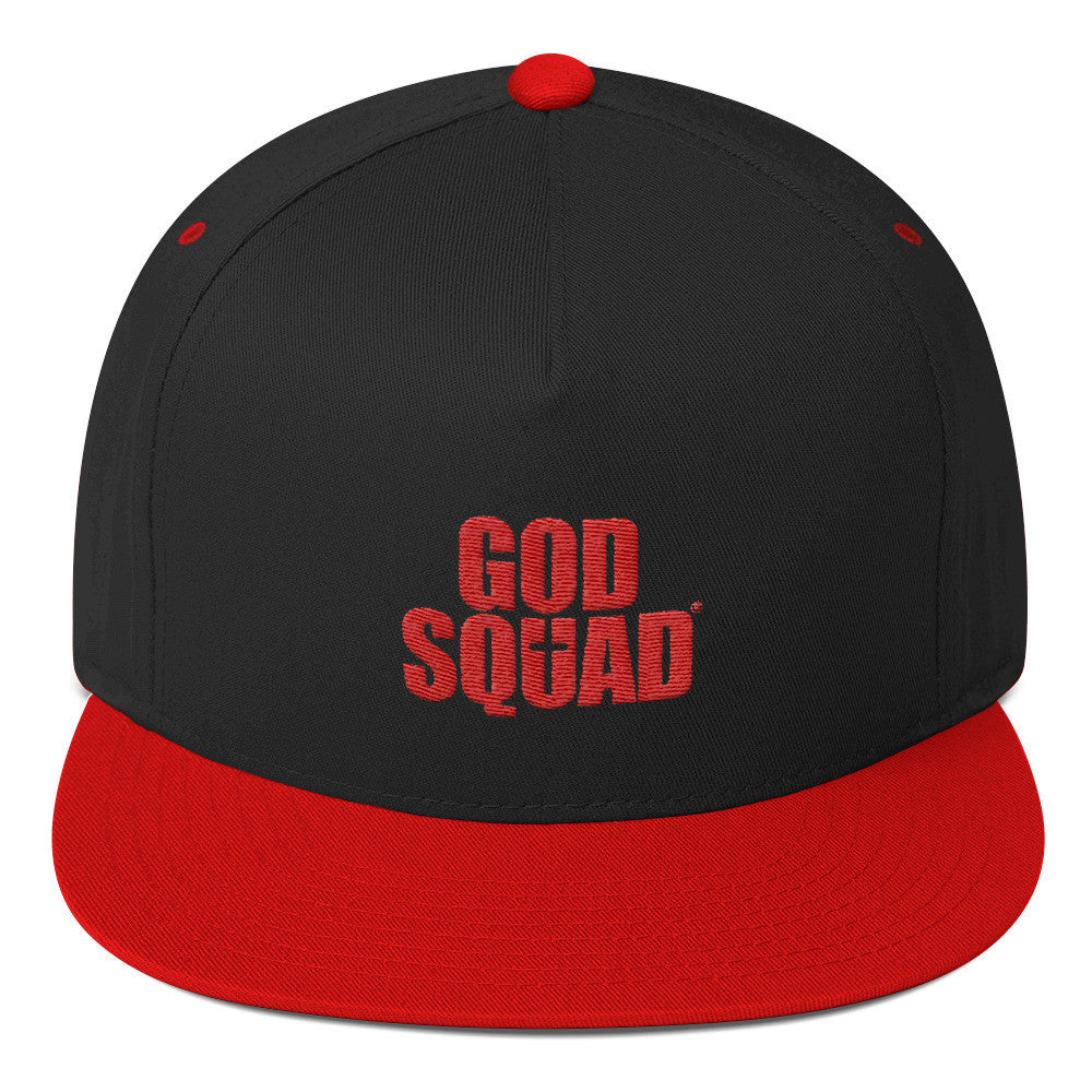 God Squad Two Tune Snapback' Black & Red