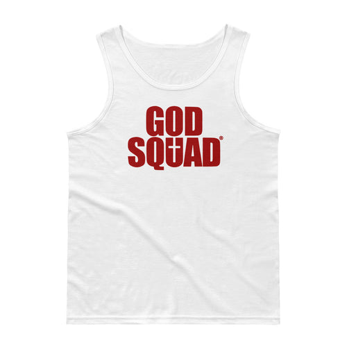 God Squad White & Blood Classic Men's Tank Top