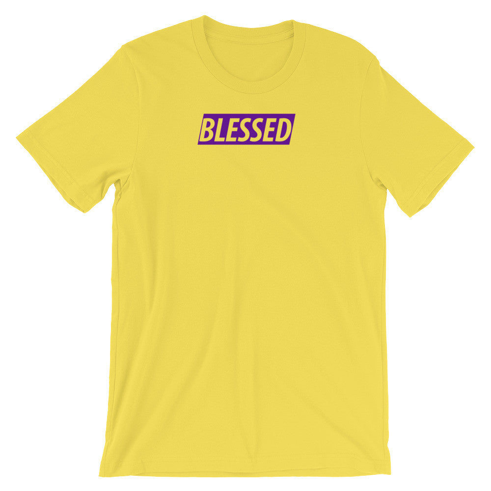 Blessed Sunshine & Royal Purple Unisex short sleeve t-shirt
