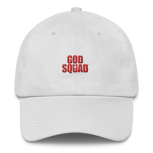 God Squad Dad Hat' White & Blood