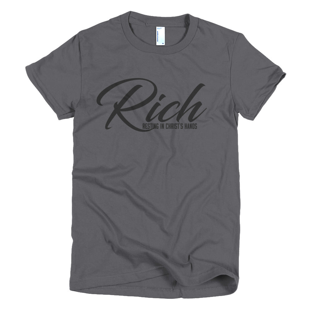 R.I.C.H. Asphalt Short Sleeve Ladie's T-shirt