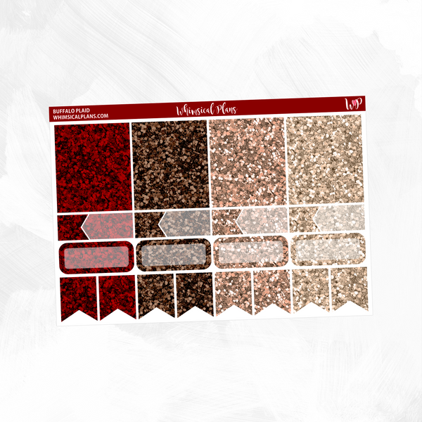 Buffalo Plaid Glitter Sampler