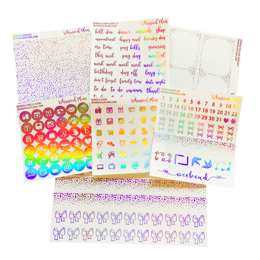 Pink Holographic FOIL Bundle