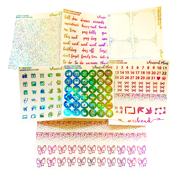 Rainbow Kaleidoscope FOIL Bundle