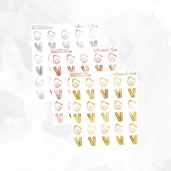 Bacon/Eggs Icons FOIL