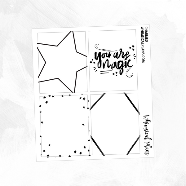 Charmed Stars Magic Full Box FOIL Overlays