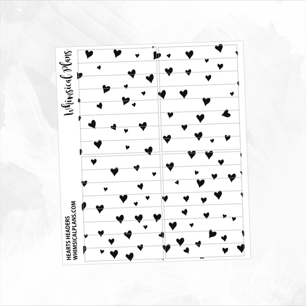 Hearts FOIL Headers | Clear