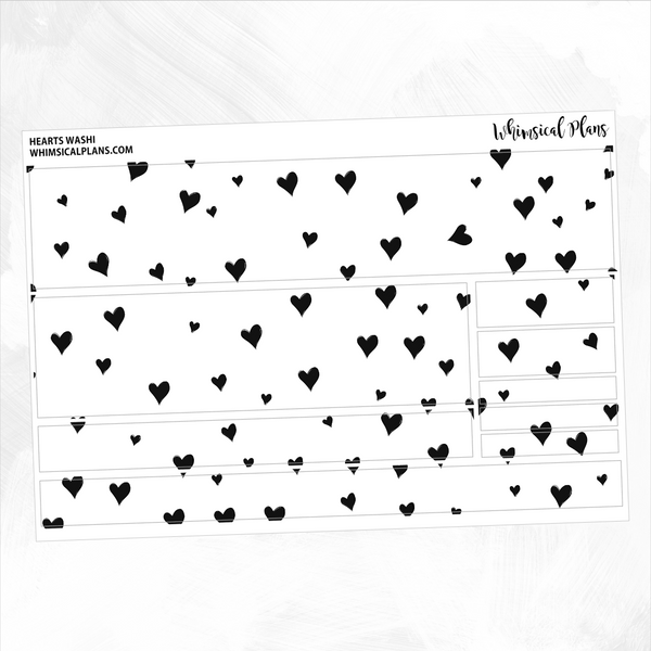 Hearts FOIL Washi | Clear