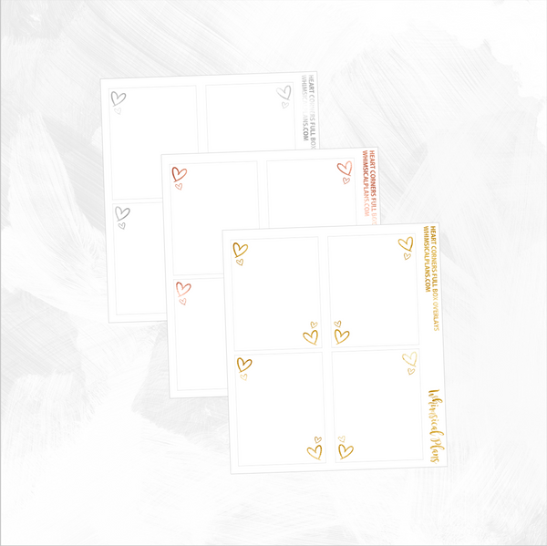 Heart Corners Full Box FOIL Overlays