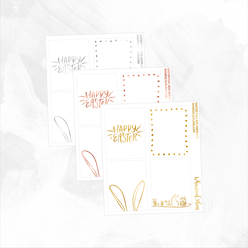 Easter Full Box FOIL Overlays