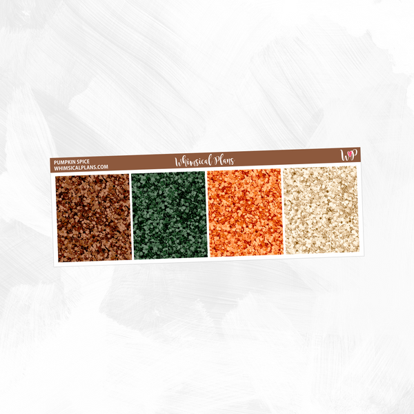 Pumpkin Spice Glitter Headers
