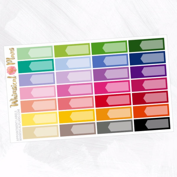 Appointment Labels | Rainbow Multicolor
