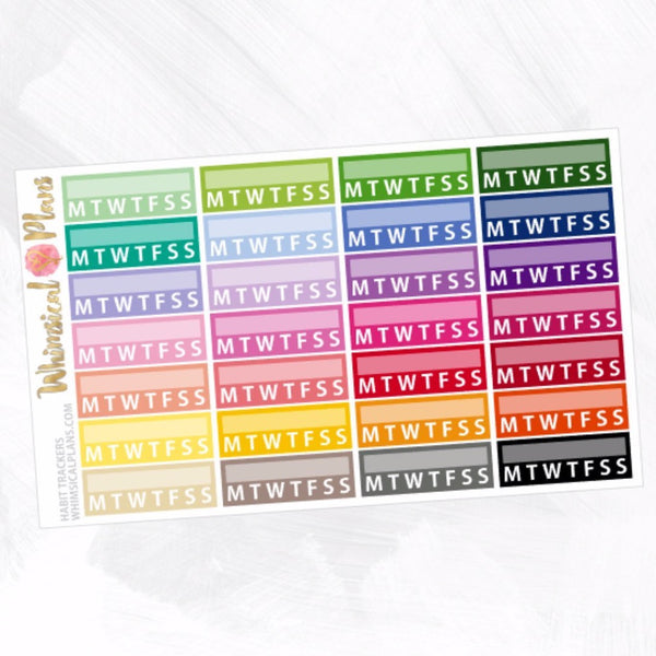 Habit Trackers | Rainbow Multicolor