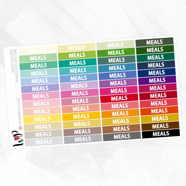Meals Headers | Rainbow Multicolor