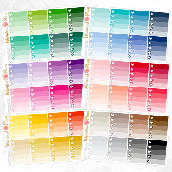 Ombre Checklists | Rainbow Multicolor