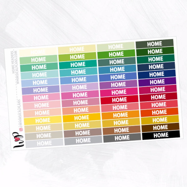 Home Headers | Rainbow Multicolor