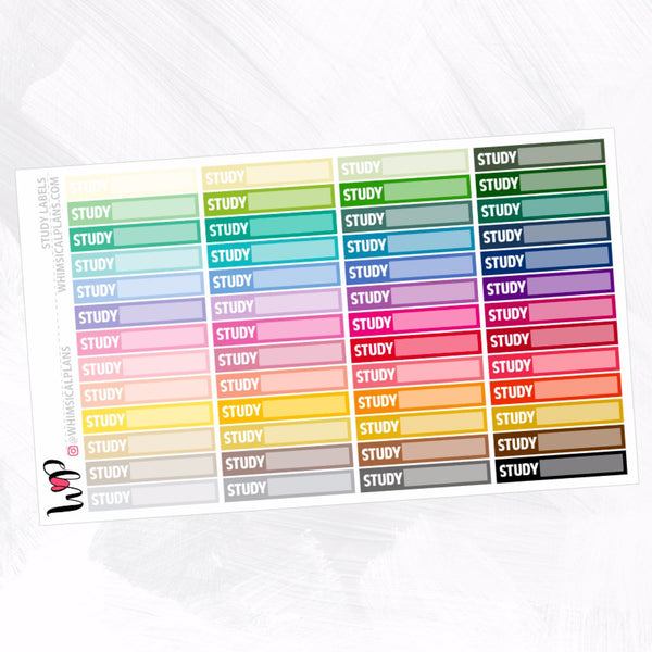 Study Labels | Rainbow Multicolor