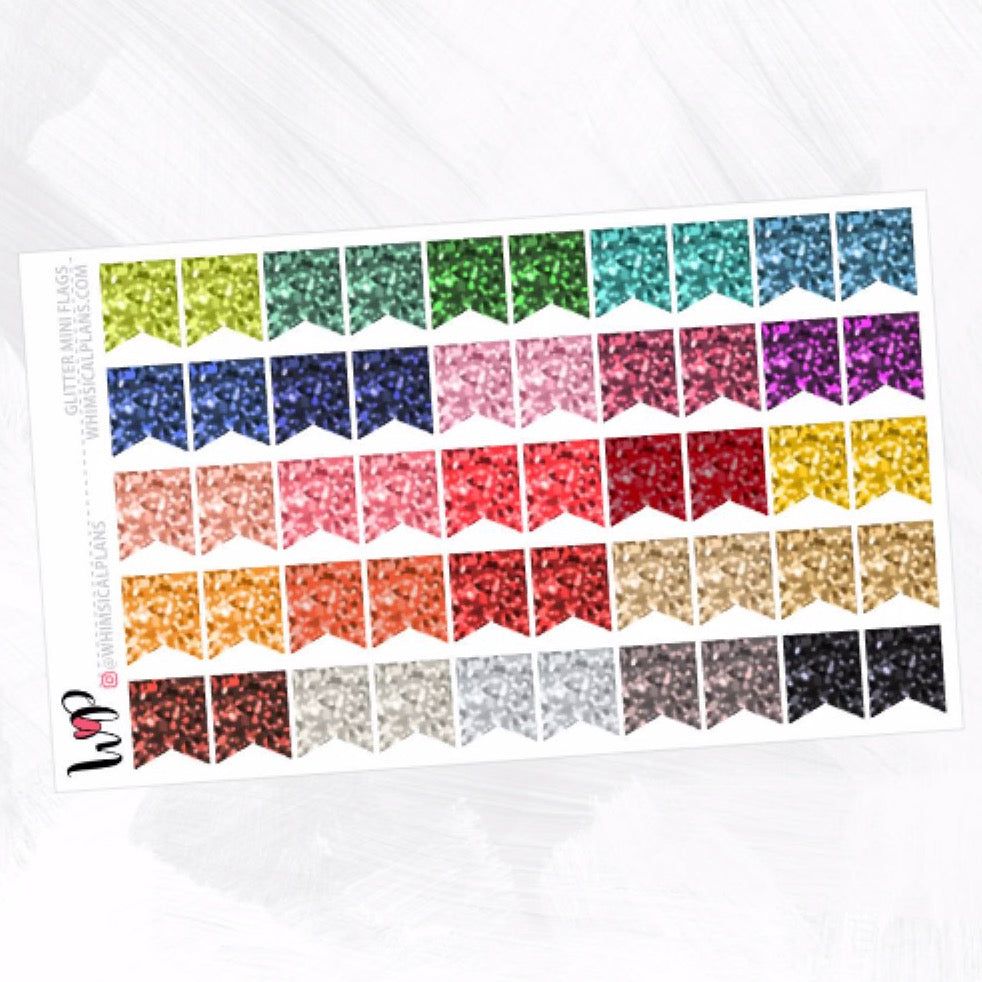 Glitter Mini Flags | Fall Multicolor