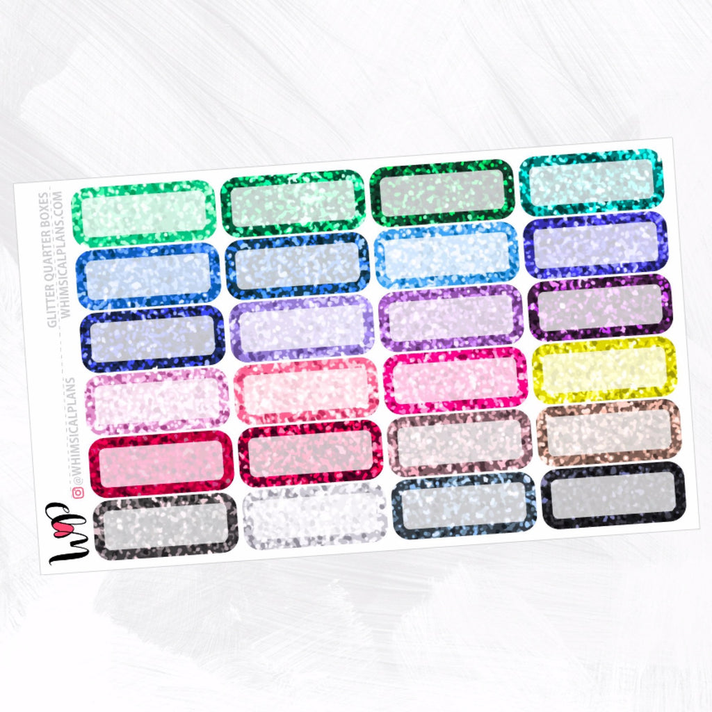 Glitter Quarter Boxes | Winter Multicolor