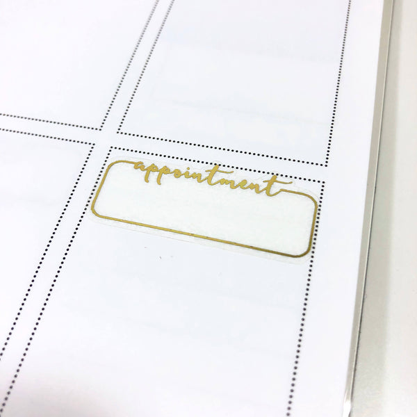 Appointment Trackers FOIL Labels