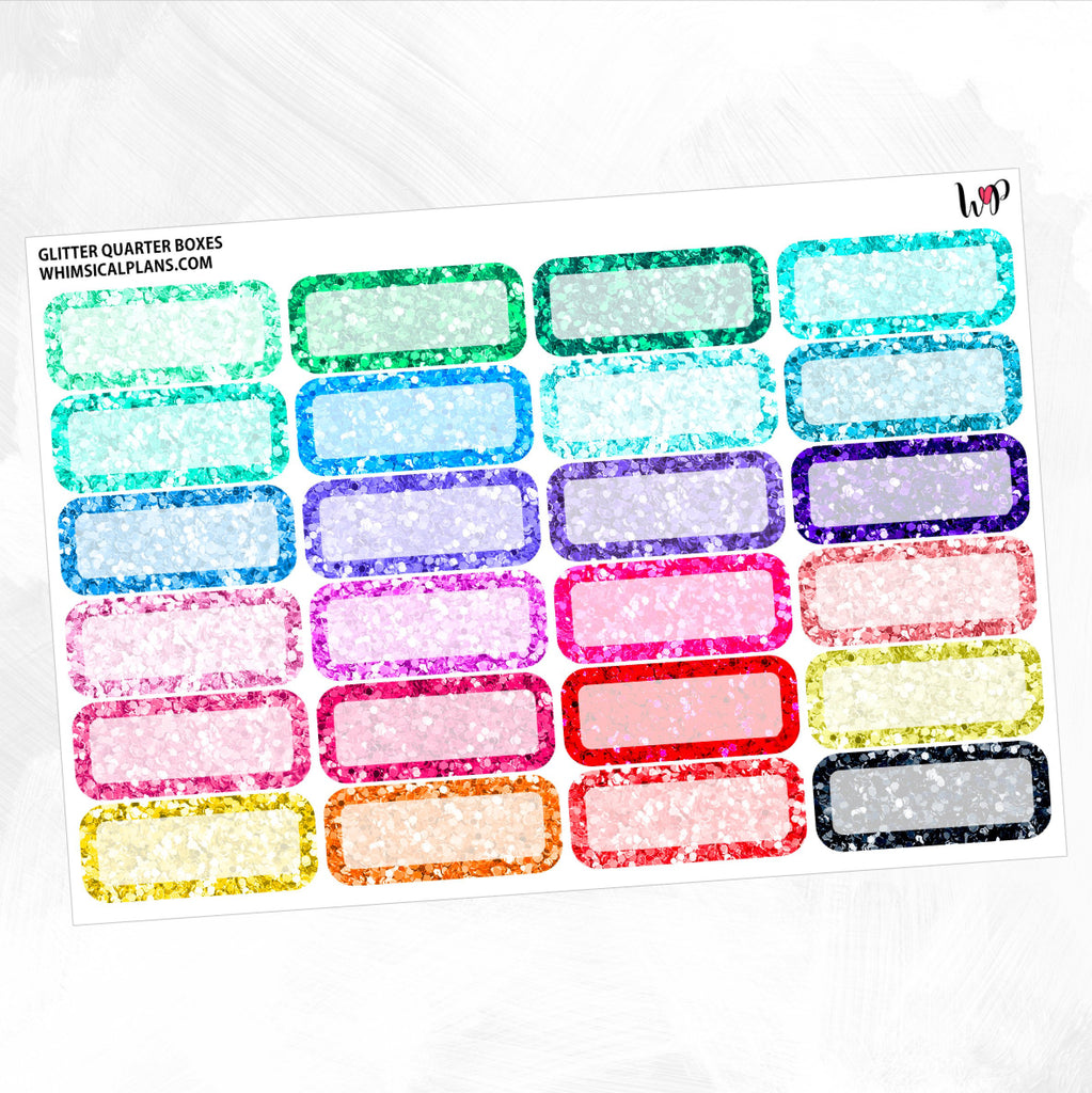 Glitter Quarter Boxes | Summer Multicolor