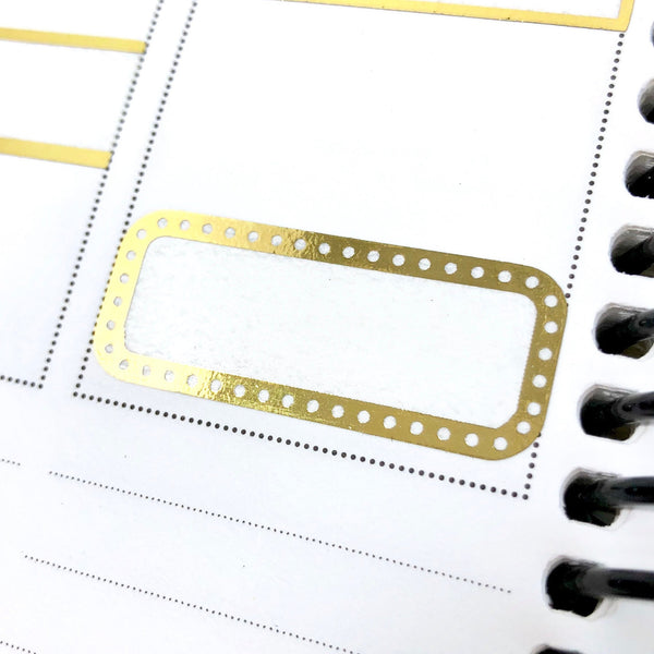 Quarter Boxes Dotted FOIL