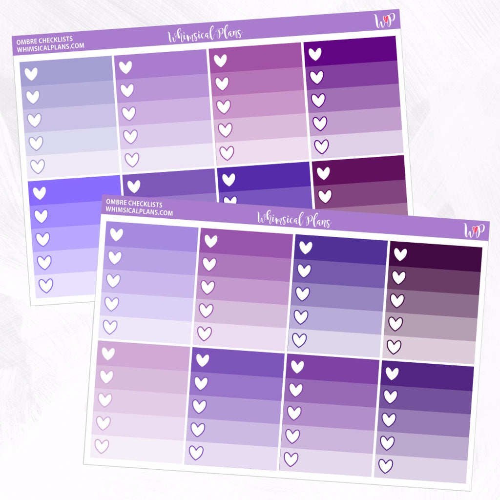 Ombre Checklists | Purple Multicolor