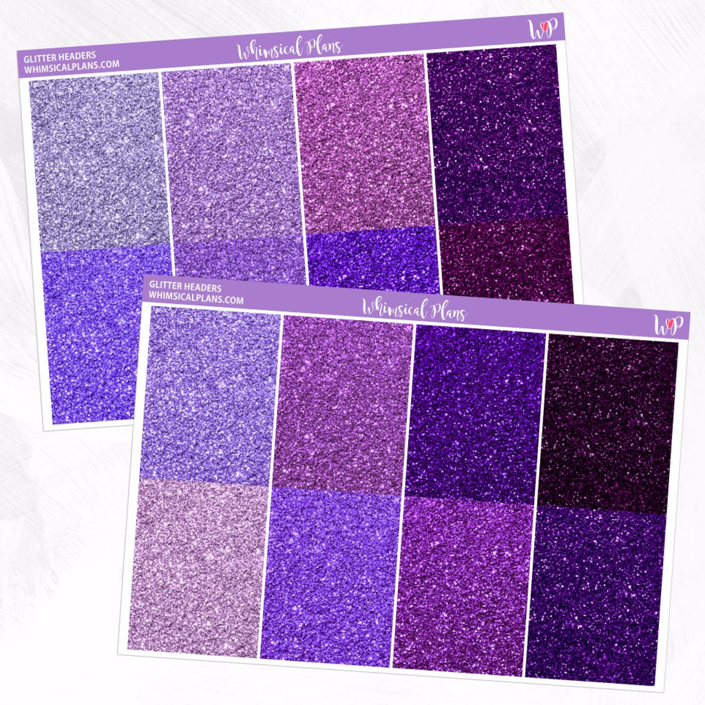 Fine Glitter Headers | Purple Multicolor