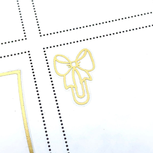 Mini Bow Paperclips FOIL