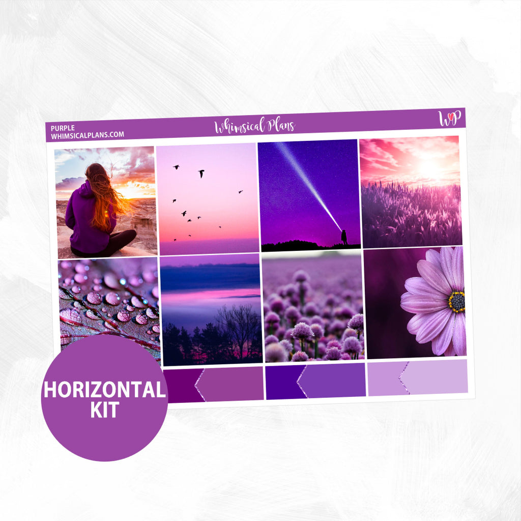 Purple Horizontal Photo Kit