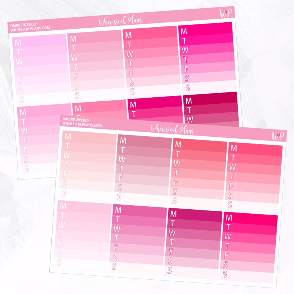 Ombre Weekly | Pink Multicolor