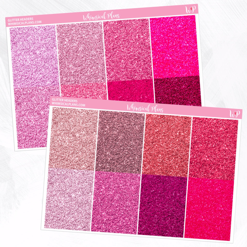 Fine Glitter Headers | Pink Multicolor