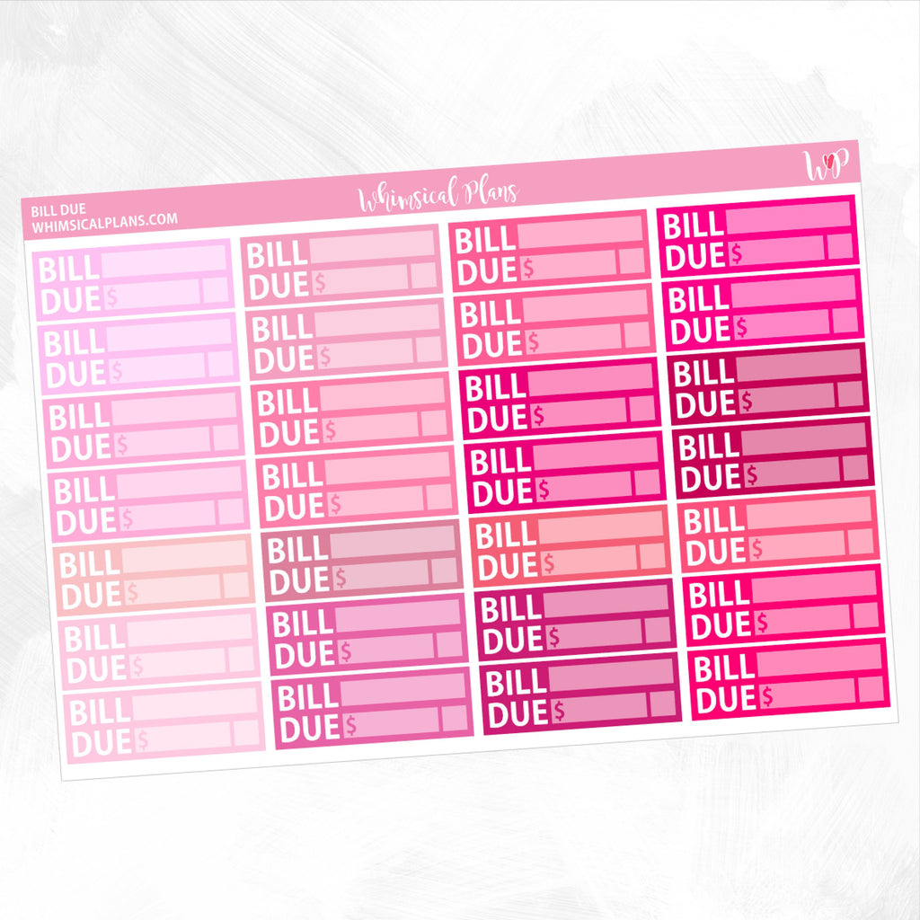 Bill Due | Pink Multicolor