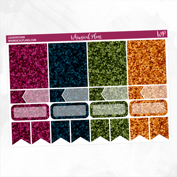 Countryside Glitter Sampler