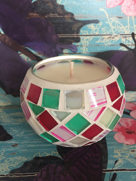 Jewel Mosaic Soy Candle