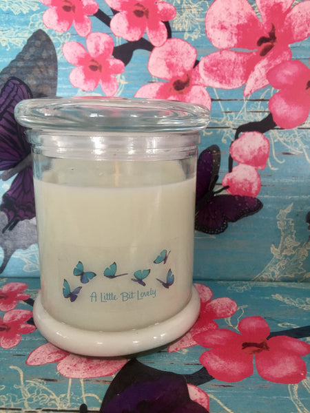 Clear Glass 300ml candle with clear lid