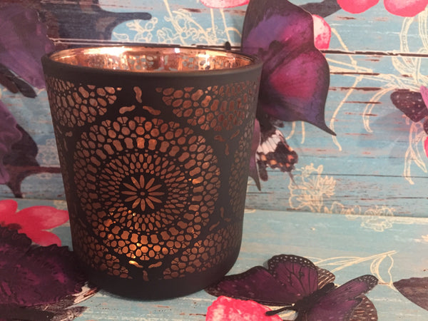 Mandala Black & Copper Soy Candle