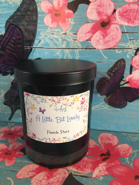 Black soy candle with lid
