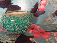 Turquoise Mosaic Soy Candle