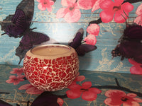 Red Mosaic Soy Candle - Perfect Christmas Gift