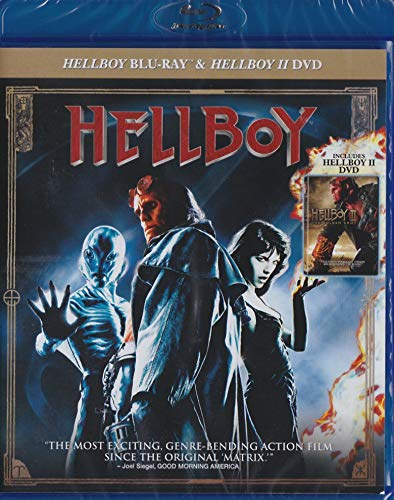 Hellboy BLU-RAY & Hellboy 2: The Golden Army DVD (Double Feature)