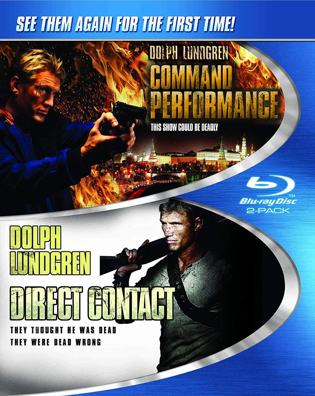 Dolph Lundgren Double Feature: Command Performance / Direct Contact Blu-ray