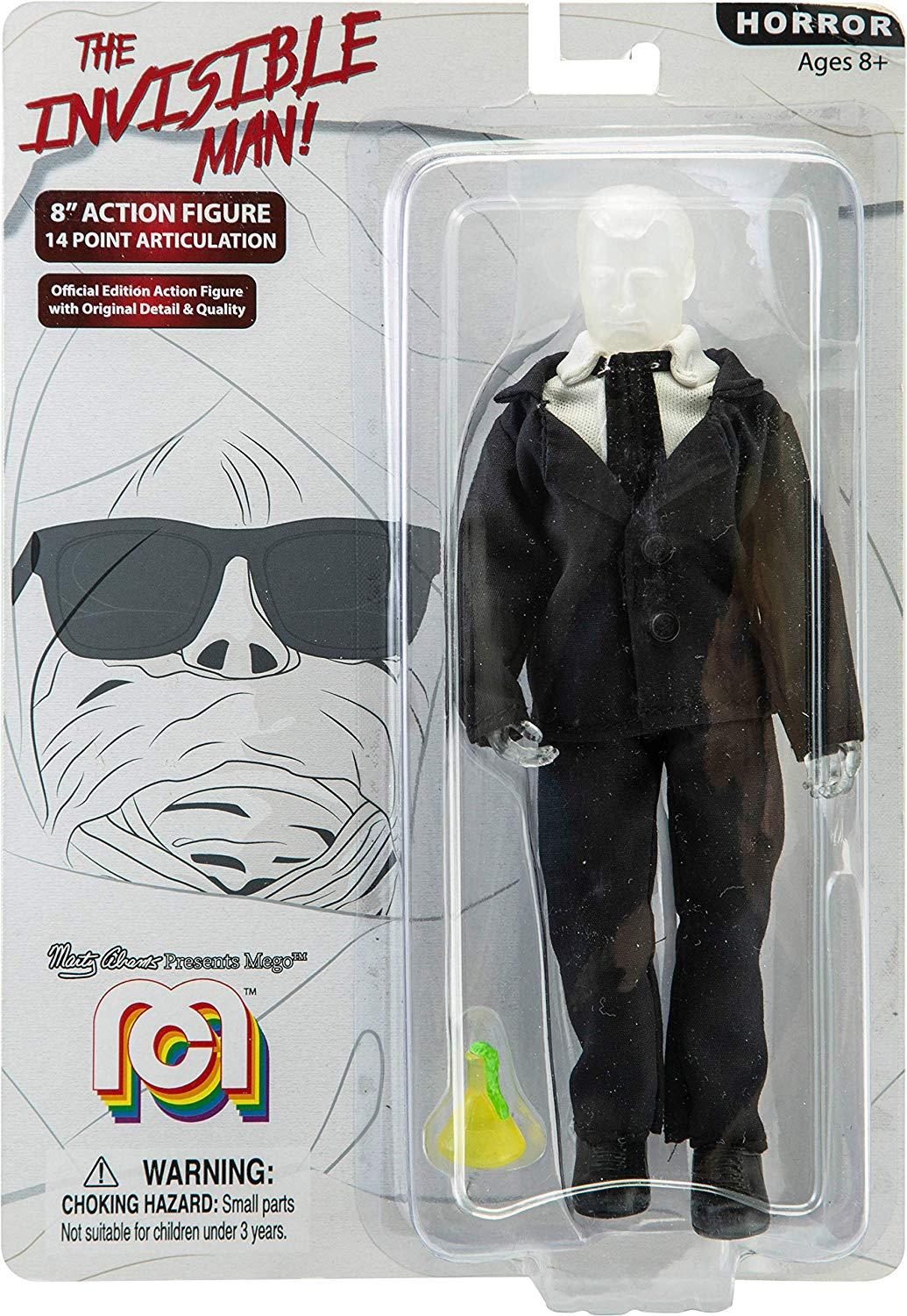 "Mego 8"" Action Figure - The Invisible Man"