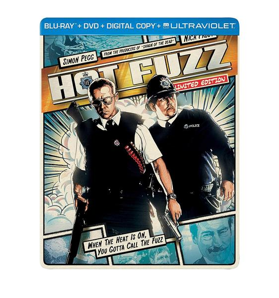 Hot Fuzz (Limited Edition) Blu-ray + DVD + Digital Steelbook (MAJOR CASE DAMAGE)