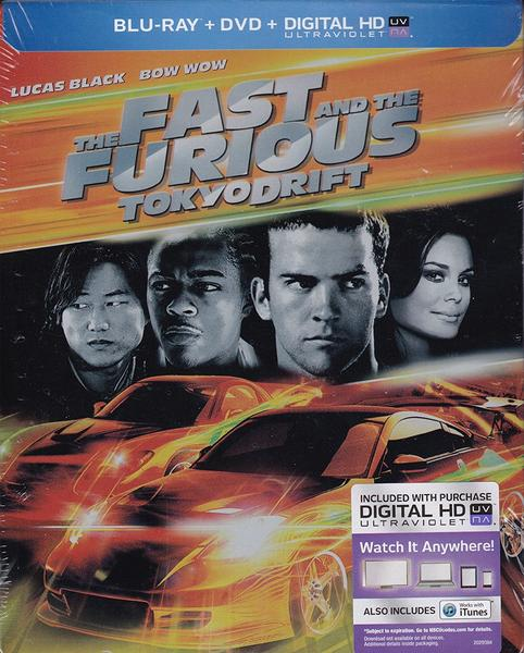 The Fast and the Furious: Tokyo Drift Blu-ray + DVD + Digital HD Steelbook (BROKEN SPOKE, DISC WILL SHIP IN SEPARATE CASE)