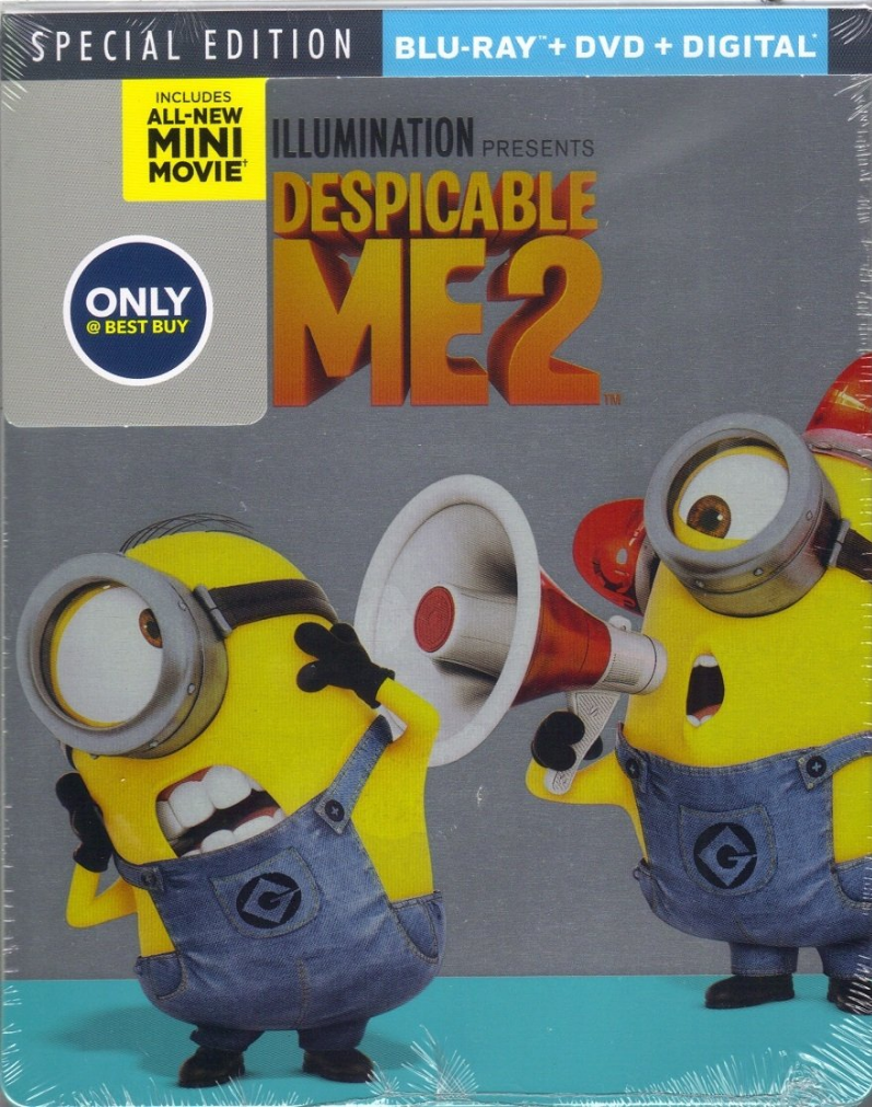 Despicable Me 2 (Special Edition) Blu-ray + DVD + Digital Steelbook (DENTED - MINOR)