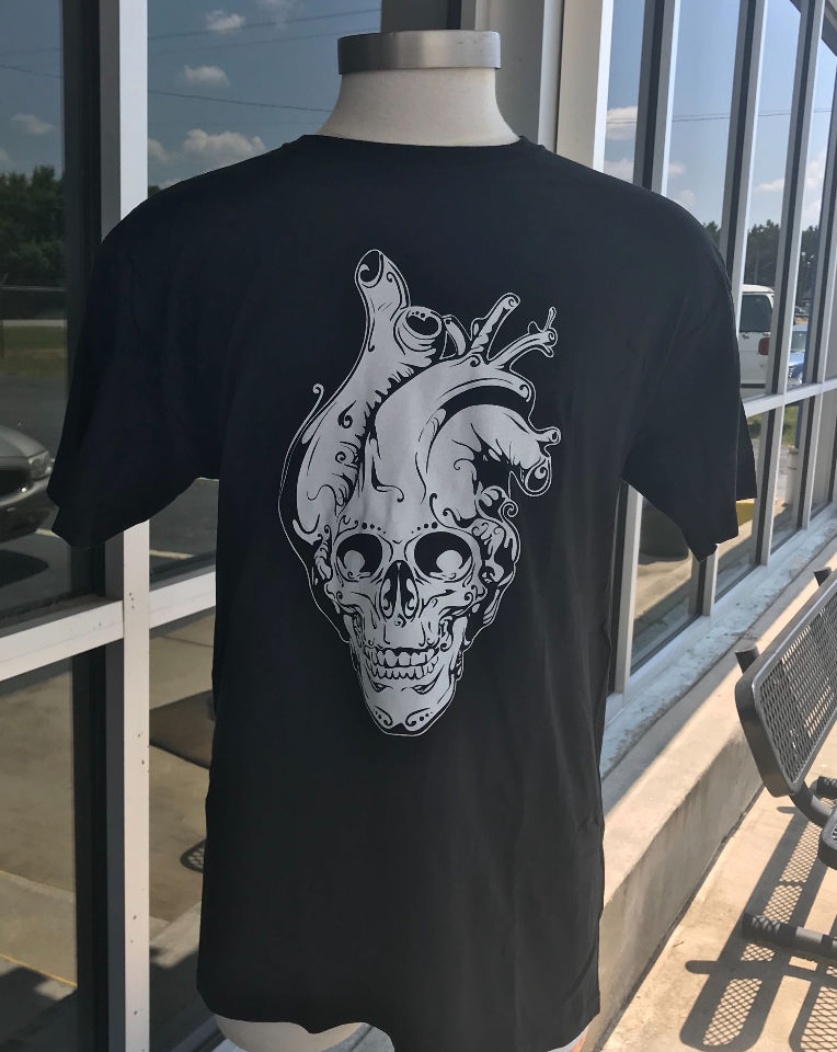 Coffin Box #6 KRVR Skull Heart T-Shirt