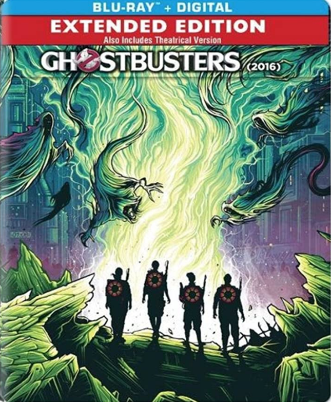 Ghostbusters (2016) Blu-ray + Digital (Extended & Theatrical Editions) Steelbook