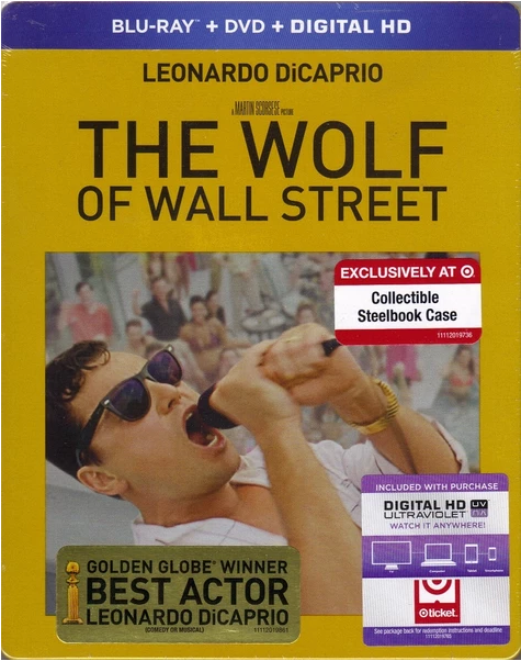The Wolf of Wall Street Blu-ray + DVD + Digital HD Steelbook (DENTED-MINOR)
