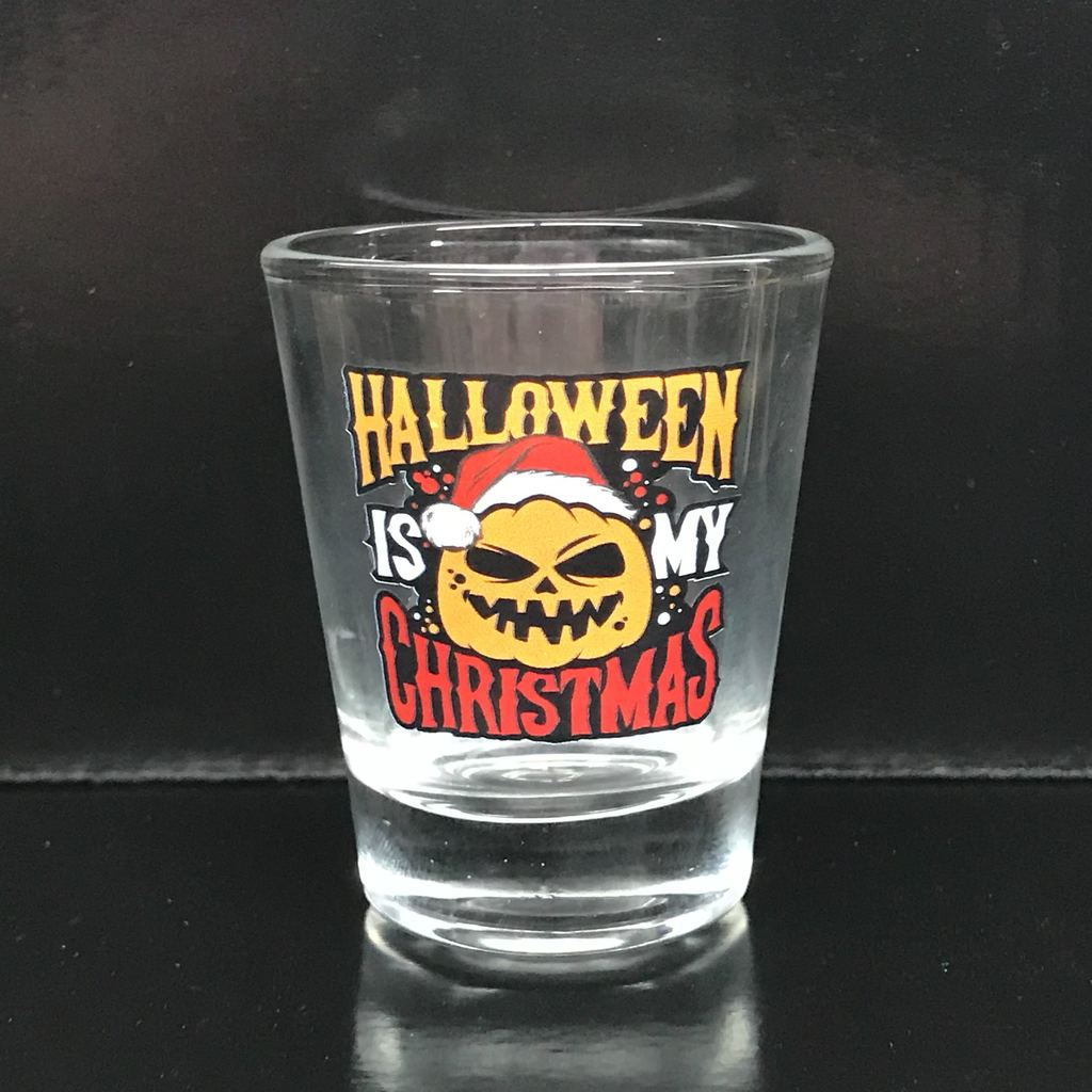 "Coffin Box #4 ""Halloween is my Christmas"" Shot Glass"